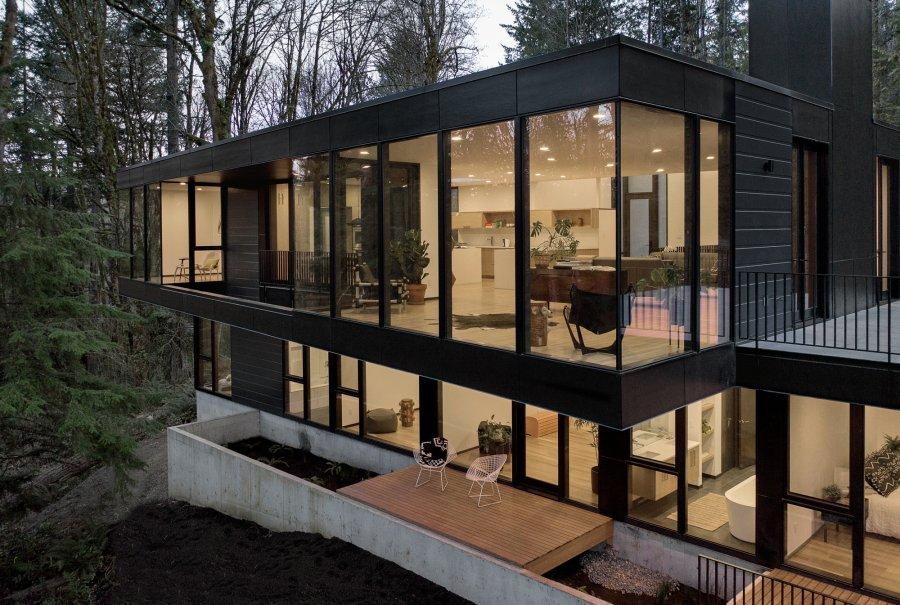 «Королевская резиденция», интегрированная в лесную среду