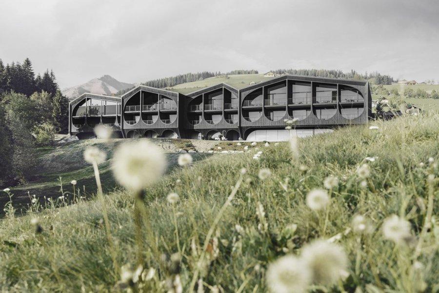 Отель с креативным экзоскелетным фасадом в альпийской деревне