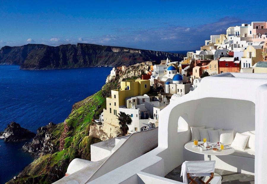 Потрясающий отель на самом романтическом острове мира Санторини в Эгейском море