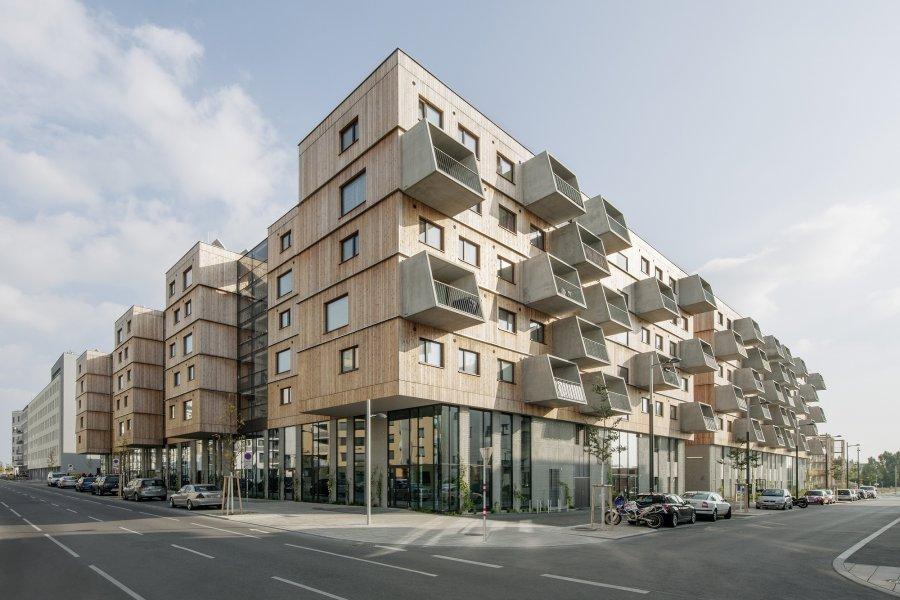 Жилой комплекс «Деревянные дома» как часть грандиозного проекта городского развития Aspern Seestadt