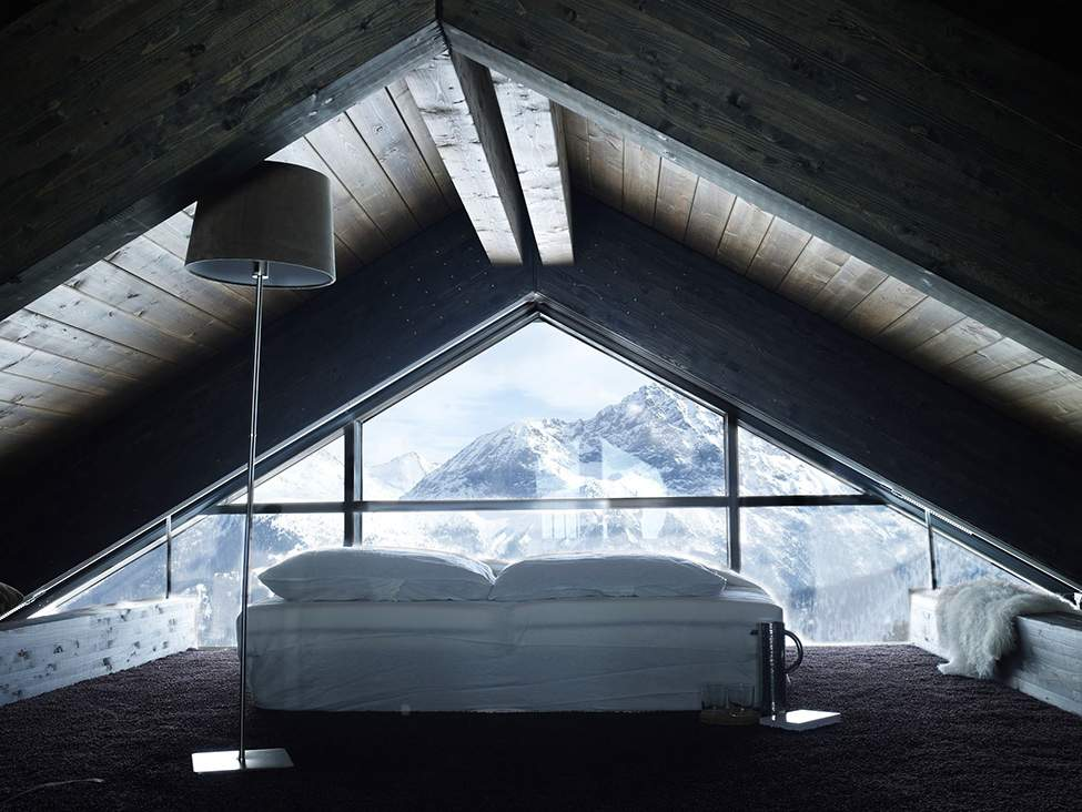 Современное шале в Альпах Италии