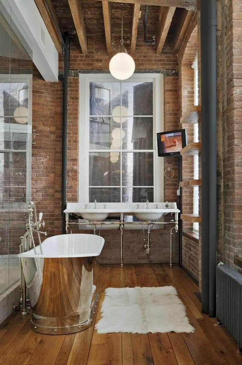 Стильный лофт с элементами винтажного интерьера в США