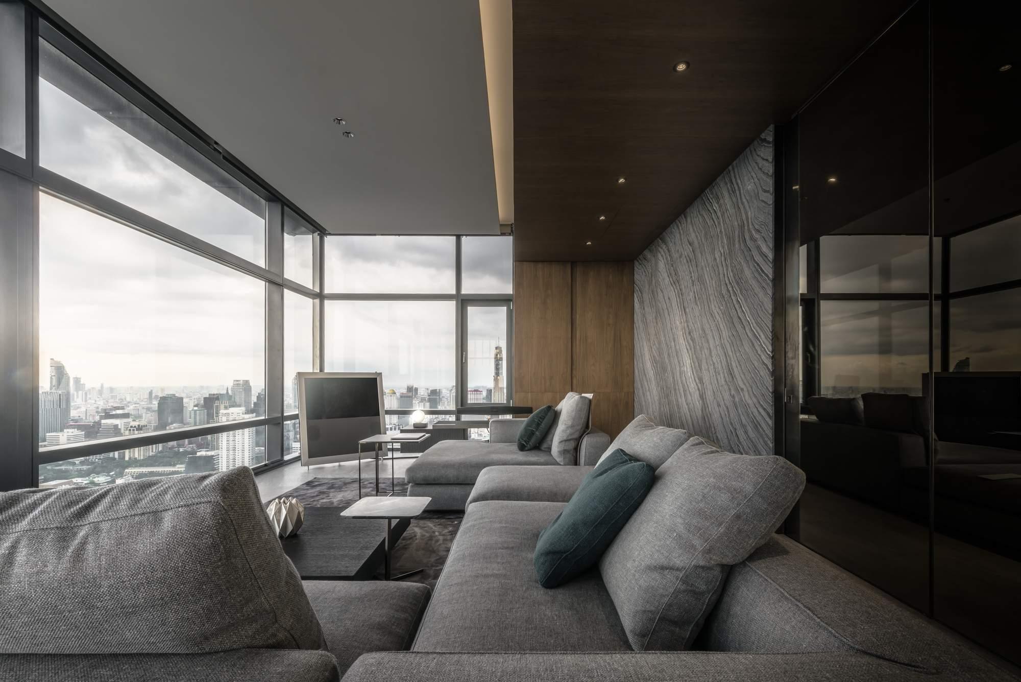 Мужские апартаменты с панорамным видом на Бангкок, Таиланд