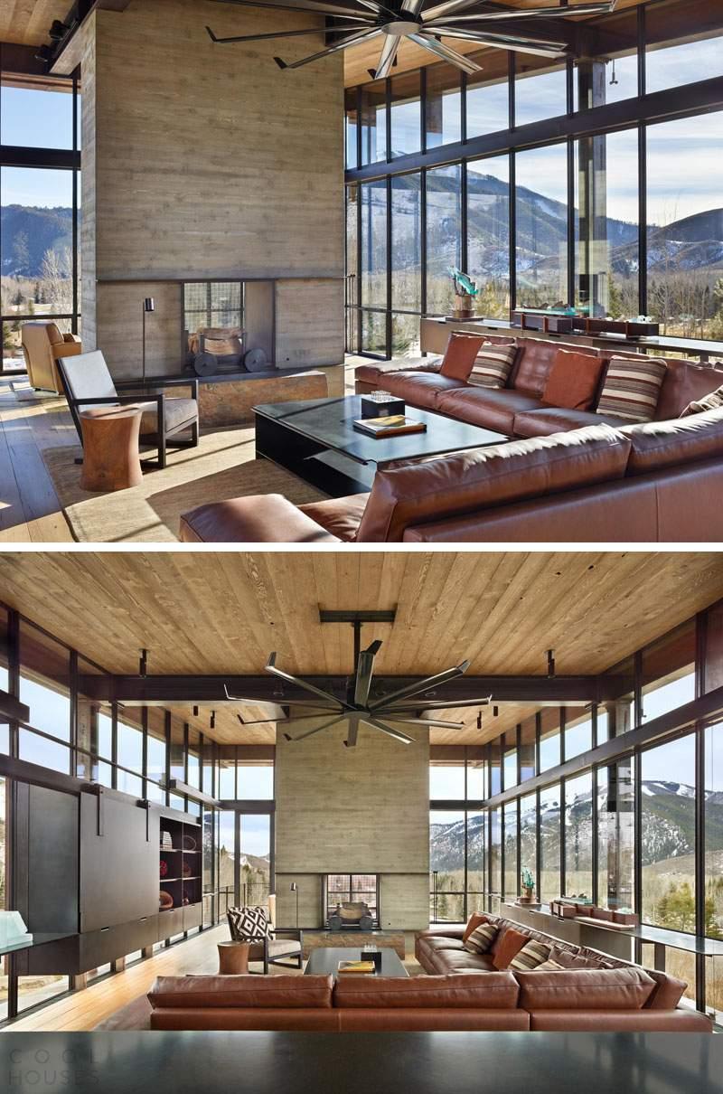 Современный дом в горах США в стиле горный Industrial