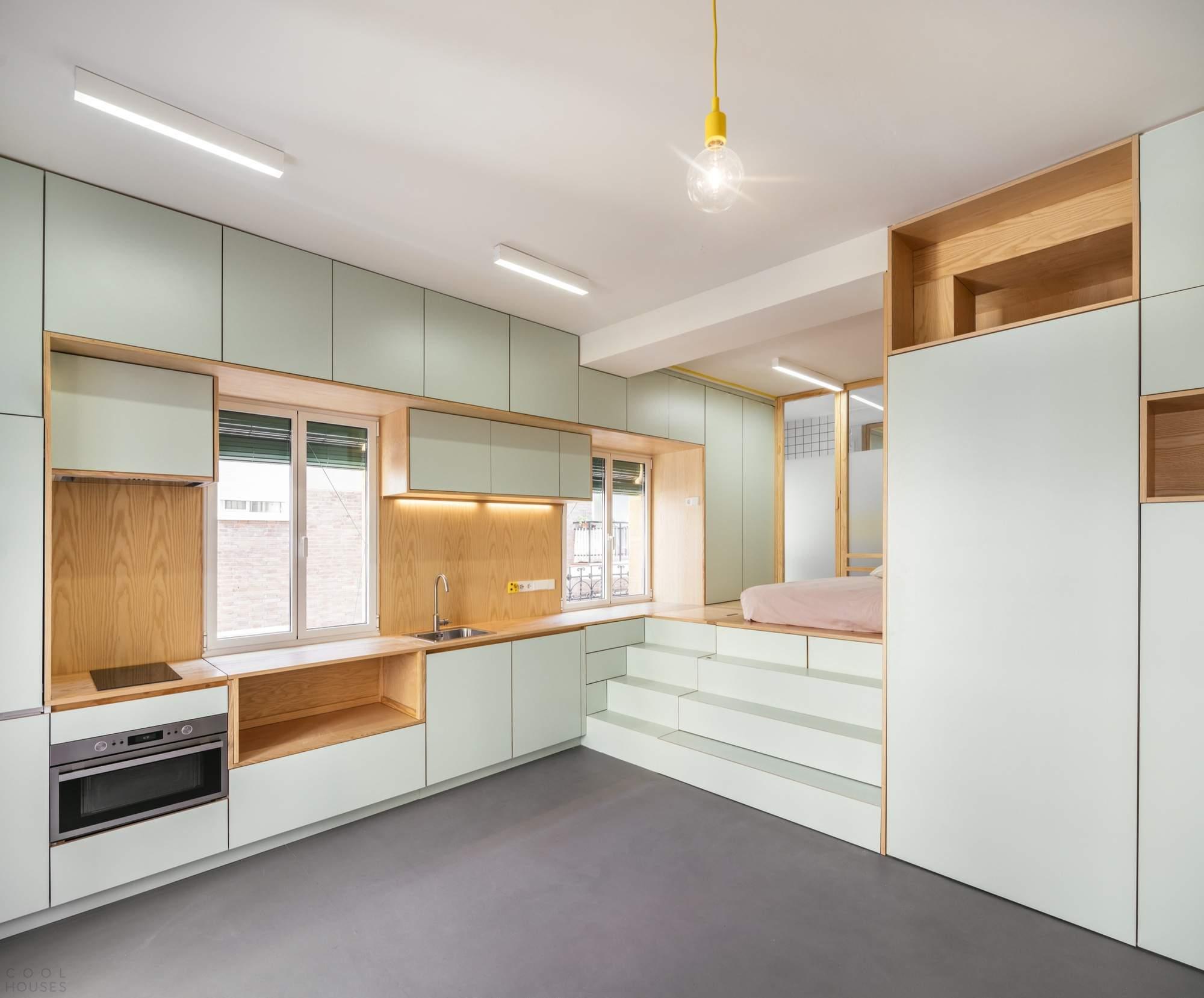 Функциональный дизайн квартиры площадью 33 кв метров