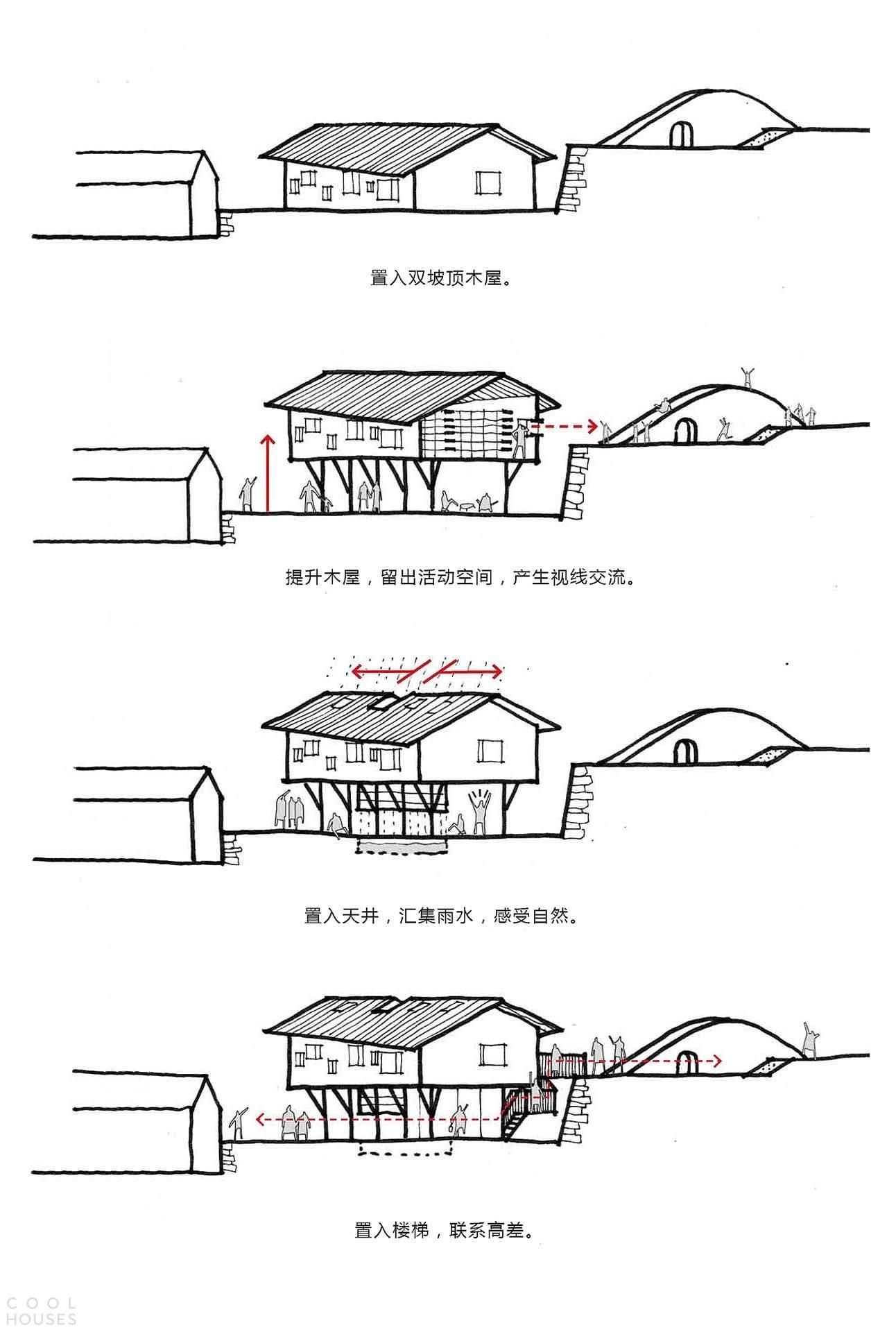Современная билиотека в горной деревне, Китай