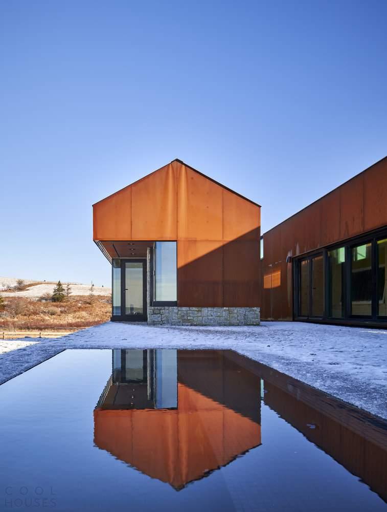 Загородный дом в стиле барнхаус, Канада