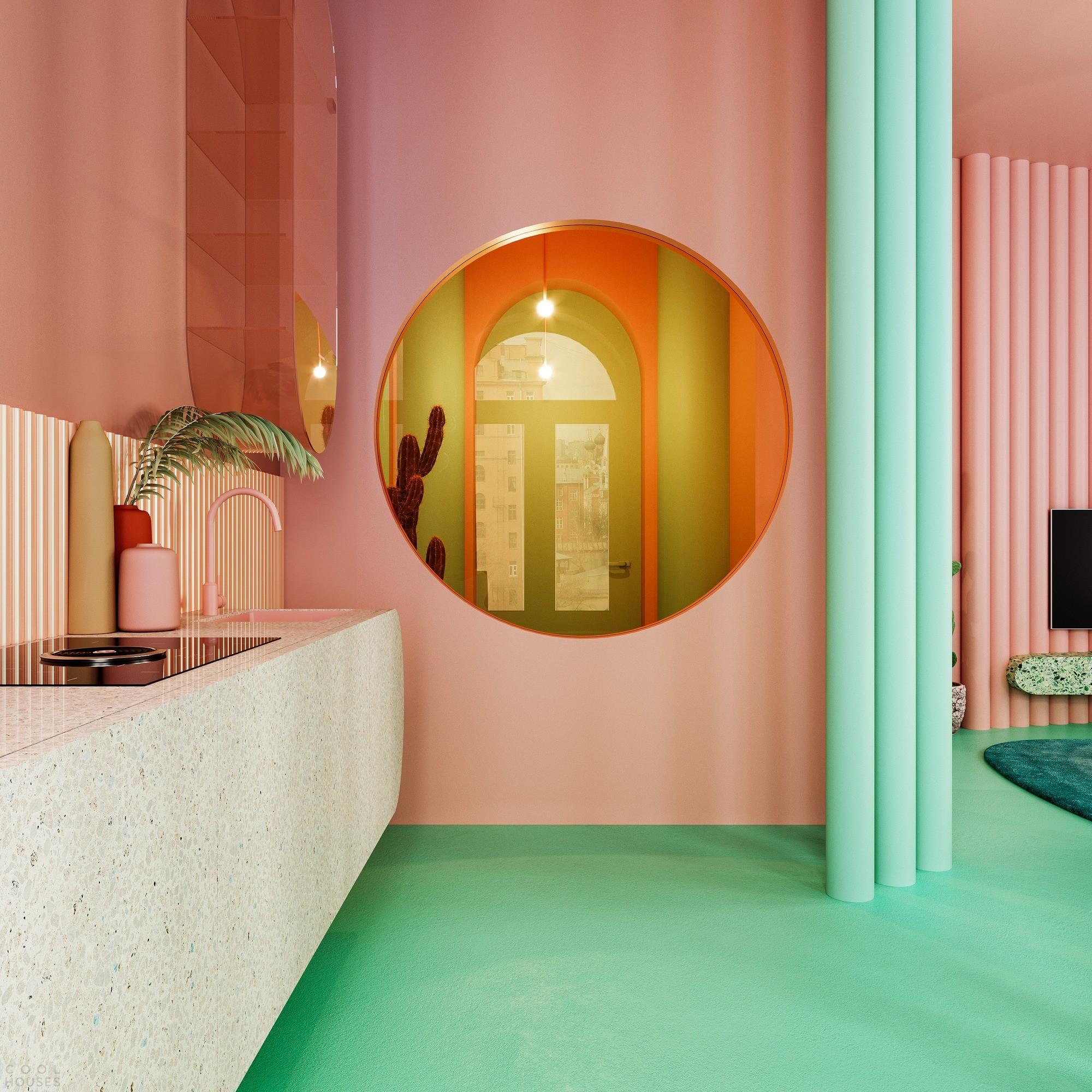 Апартаменты будущего, вдохновленные яркими мексиканскими красками