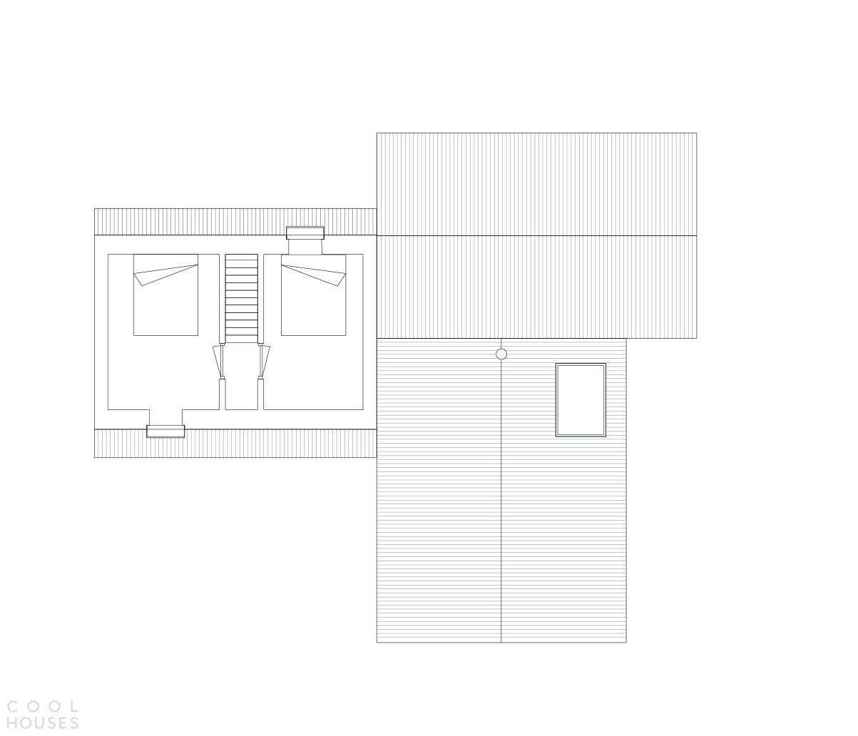 Загородная деревянная вилла, состоящая из трех архетипических домиков