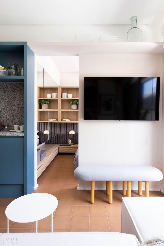Маленькая квартира с ярким креативным дизайном