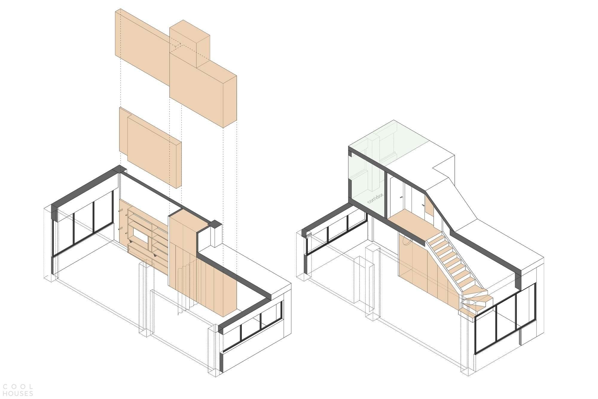 Реконструкция квартиры 33 кв.м. в центре Москвы, Россия