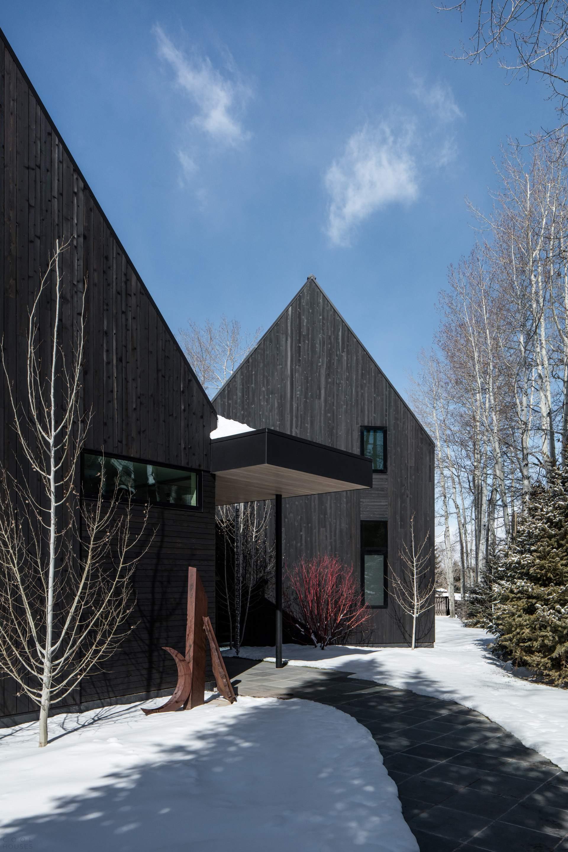Дом с V-образным планом и эклектичным интерьером, США