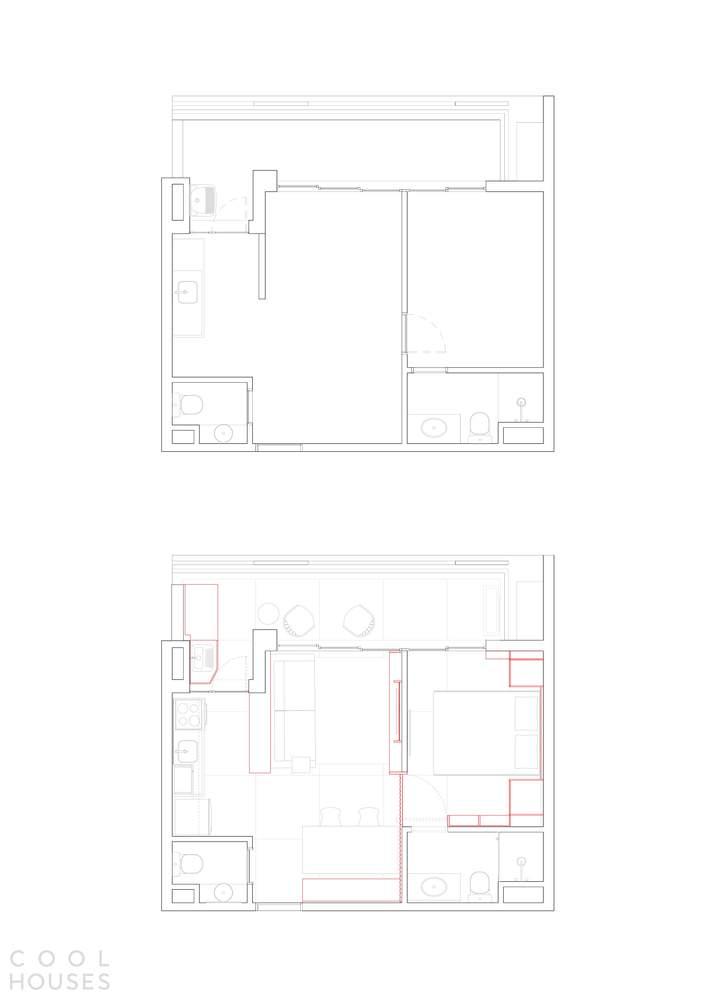 Небольшая, уютная квартира с индивидуальным функциональным интерьером, Бразилия