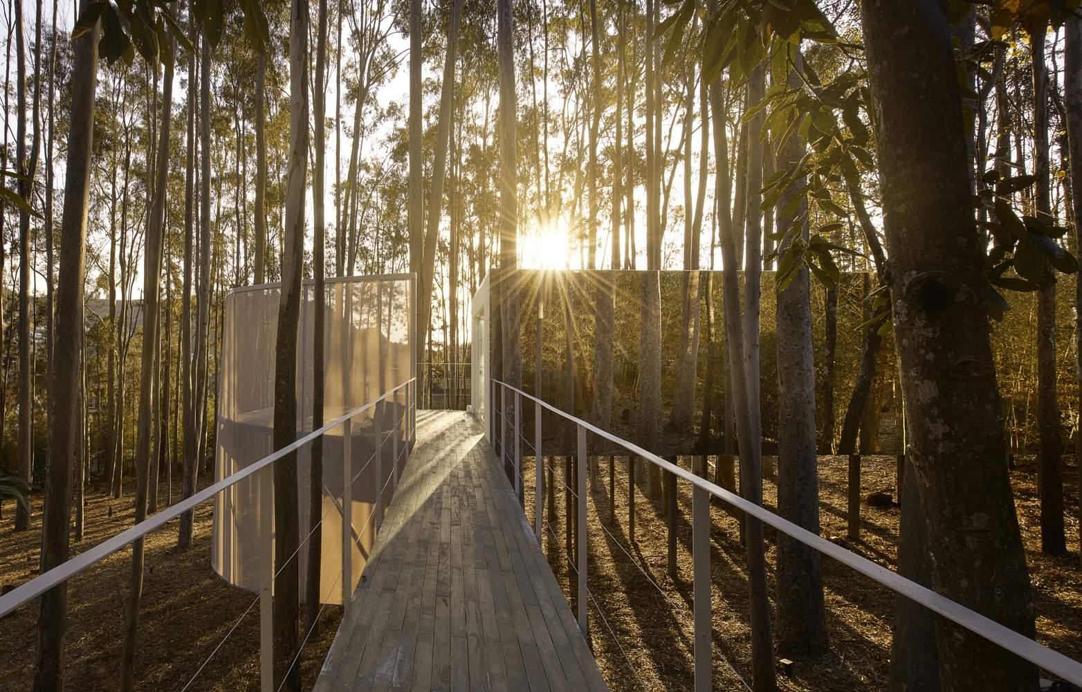 Зеркальное убежище в лесу, Бразилия