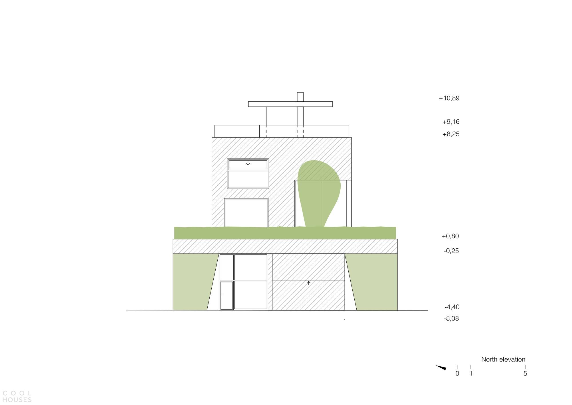 Семейный дом с атриумом и впечатляющим панорамным видом