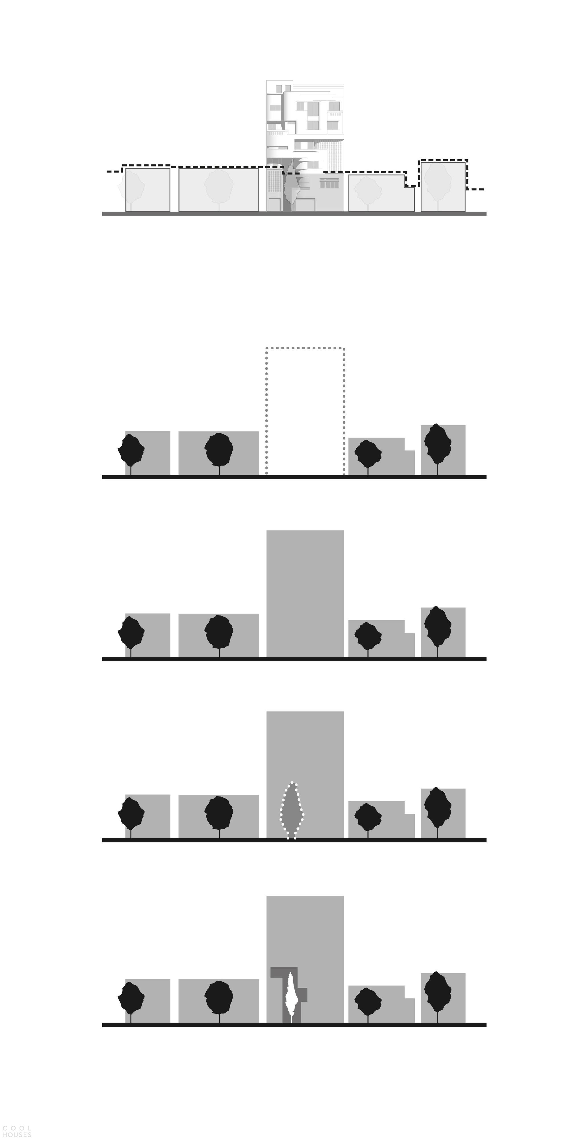 Многоквартирный жилой дом с креативными фасадами
