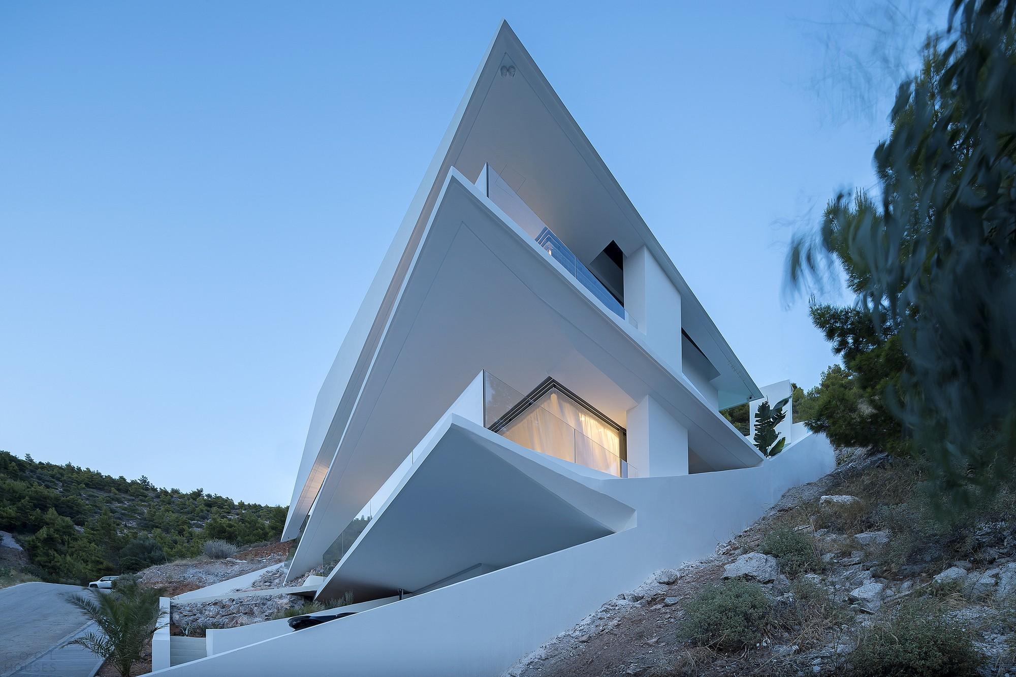 «Алмазный дом» с экстравертным характером, вдохновленный японским искусством оригами