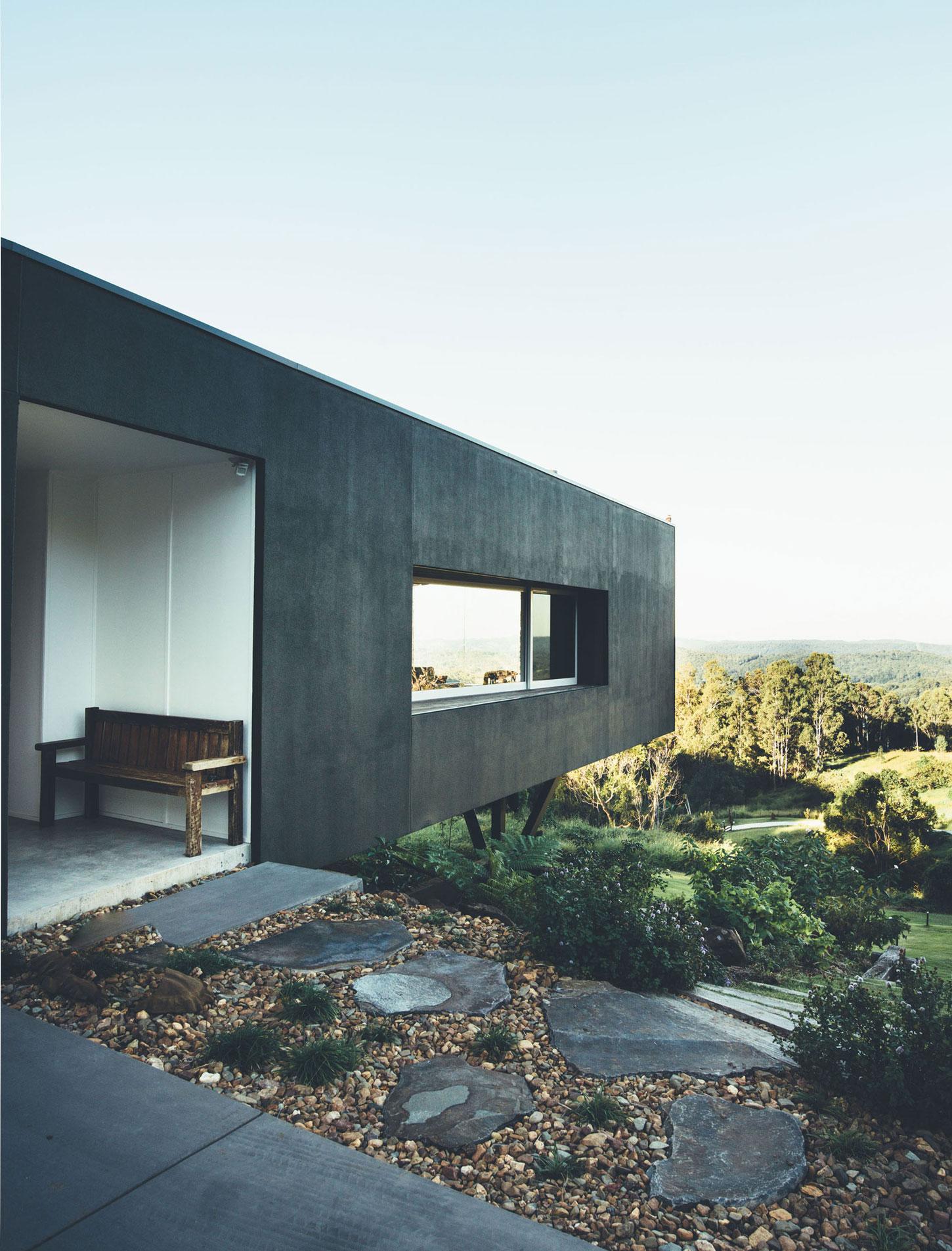 «Зеленый» дом с видом на Тихий океан