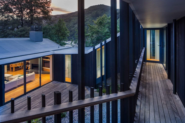 Дом для отдыха на берегу залива Пелорус в Новой Зеландии
