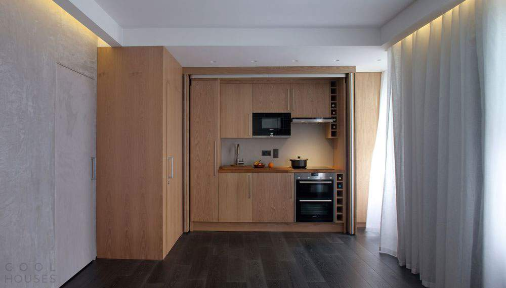Современный дизайн квартиры-студии 26 кв.м.