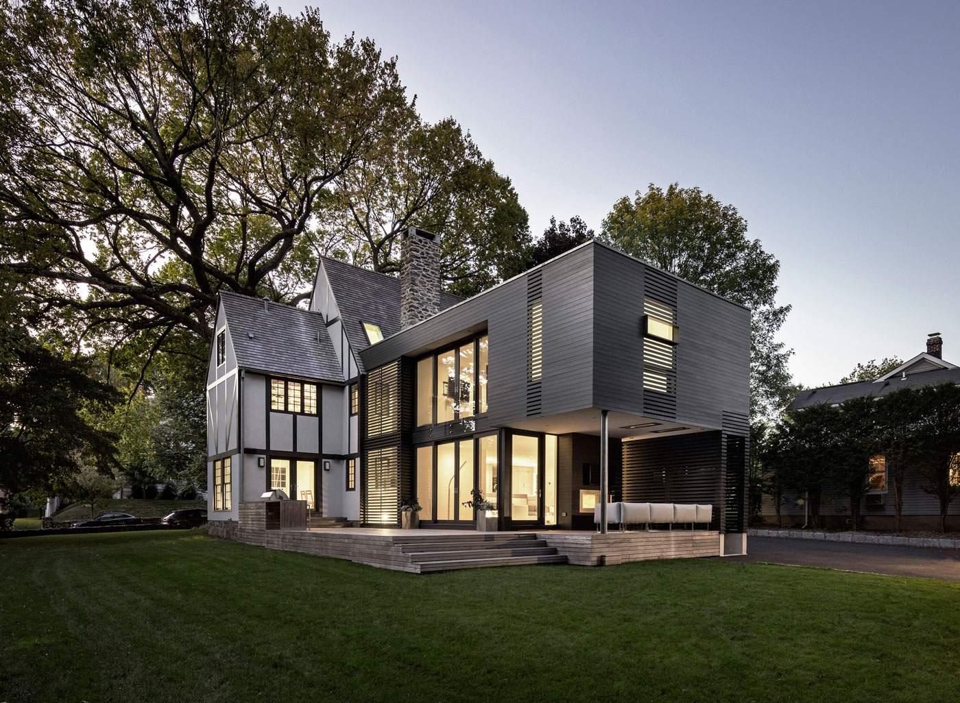 Уютный семейный дом в пригороде Нью-Йорка, США
