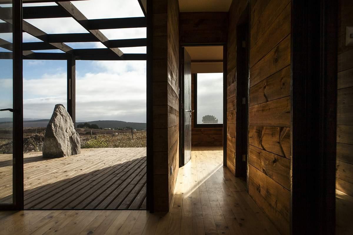 Сборный дом с видом на океан, Чили