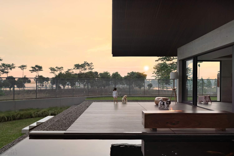 Минималистичный дом в современном японском стиле, Индонезия