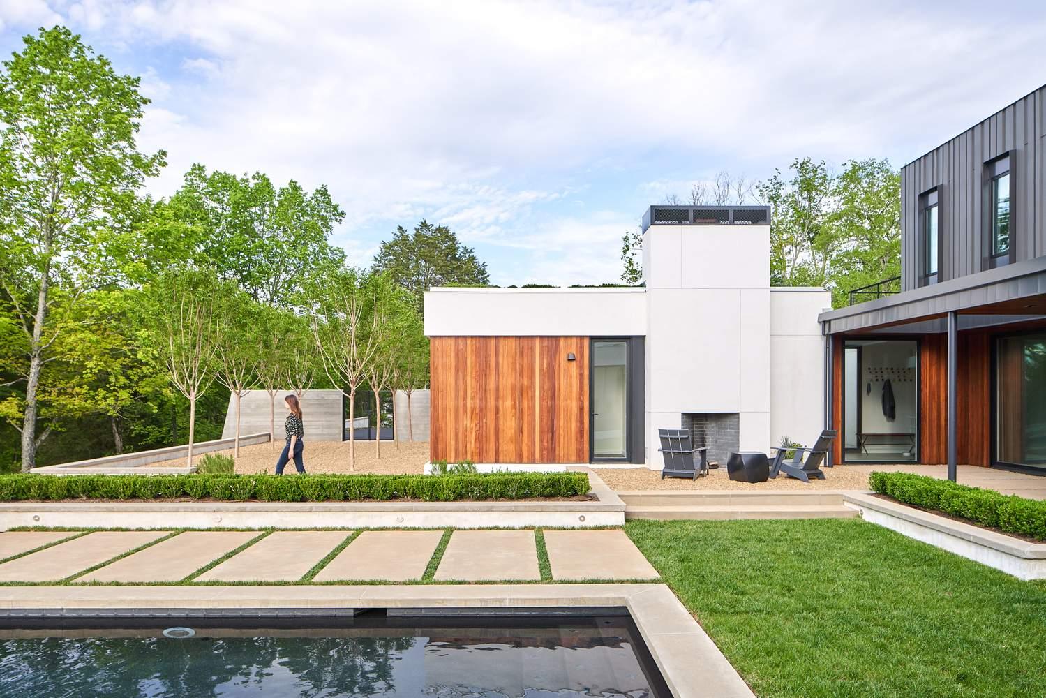 Преобразование ранчо в современный загородный дом, США