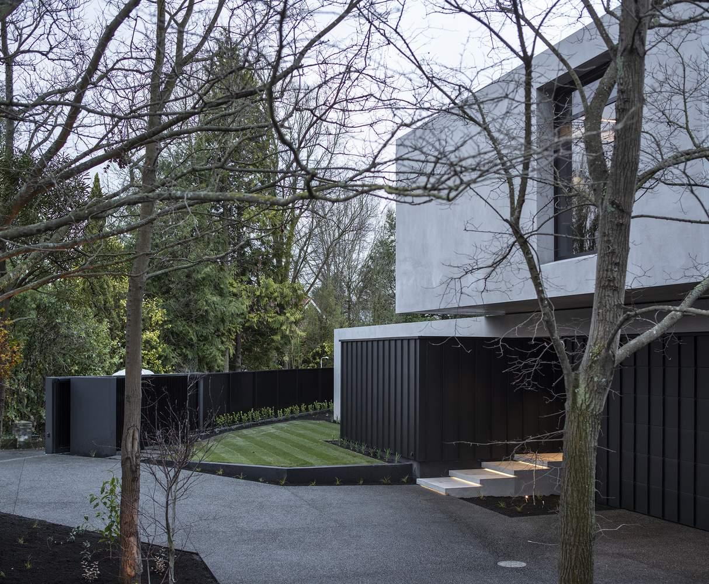 Скульптурное семейное убежище с панорамным остеклением, Новая Зеландия