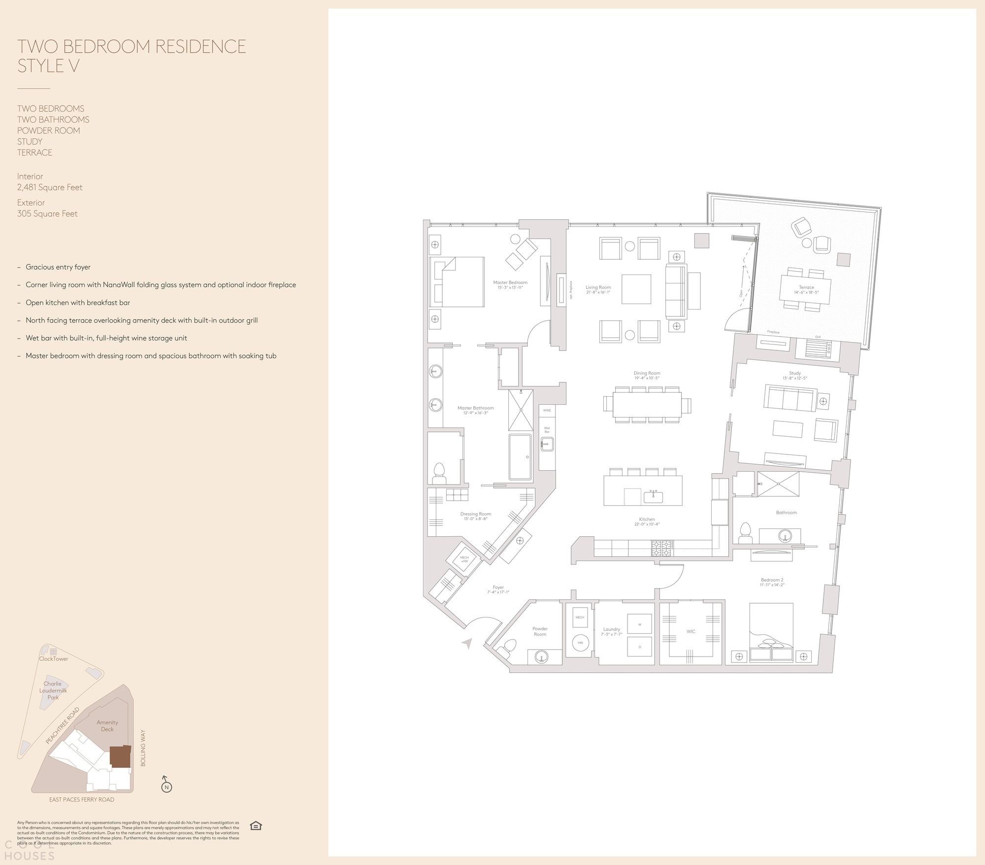 Элитный кондоминиум с ярким динамичным экстерьером и ландшафтной треугольной террасой