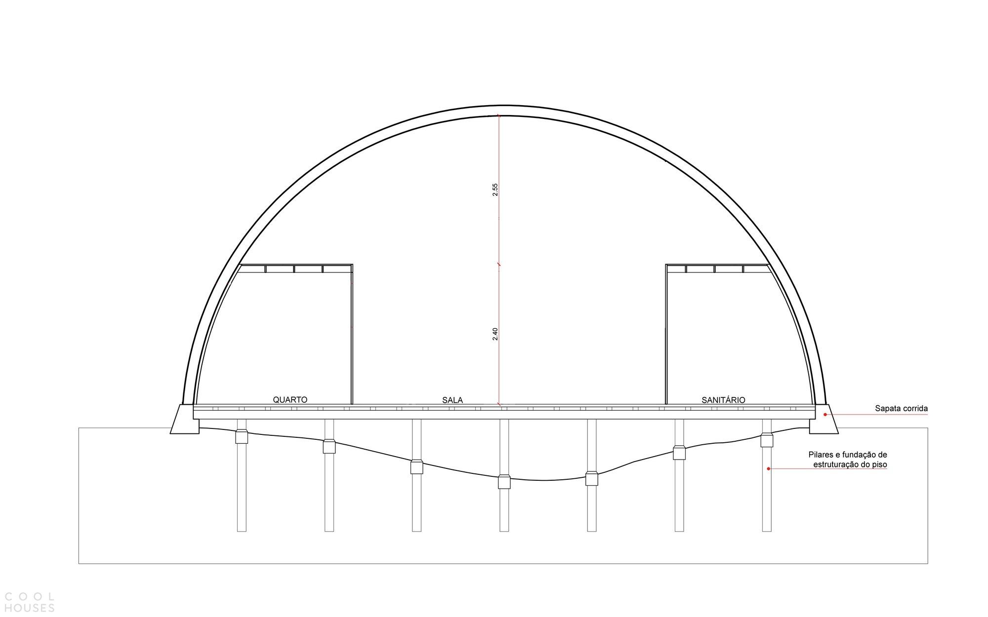 Модульный арочный дом с интерьером-трансформером