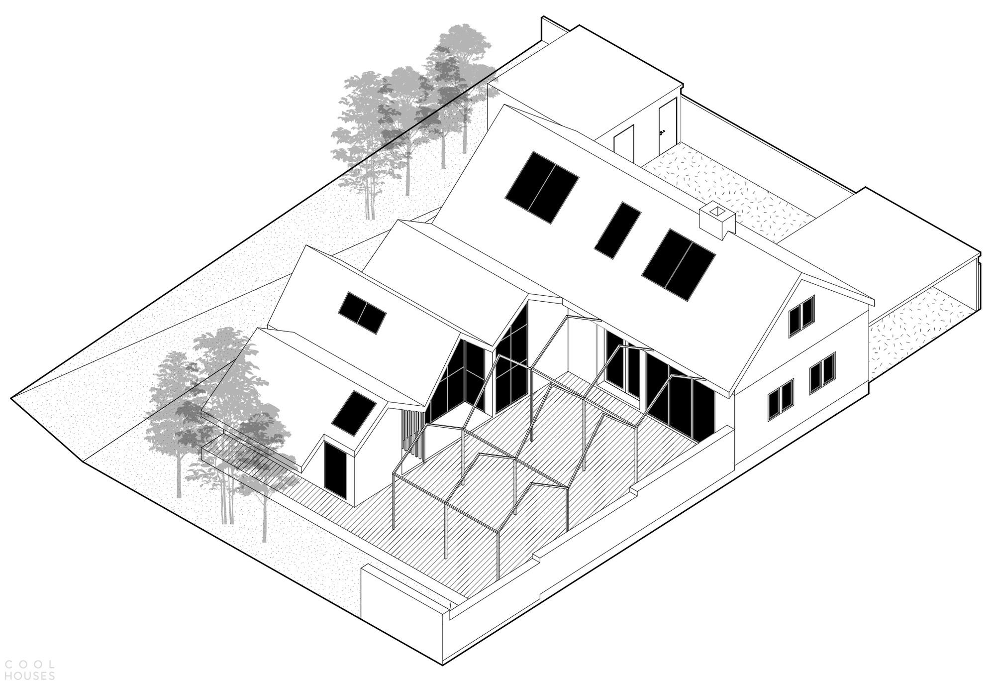 Семейный дом «Скворечники», облицованный желтой черепицей