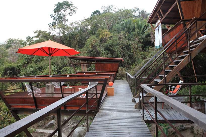 Креативный отель в тропическом лесу Мексики