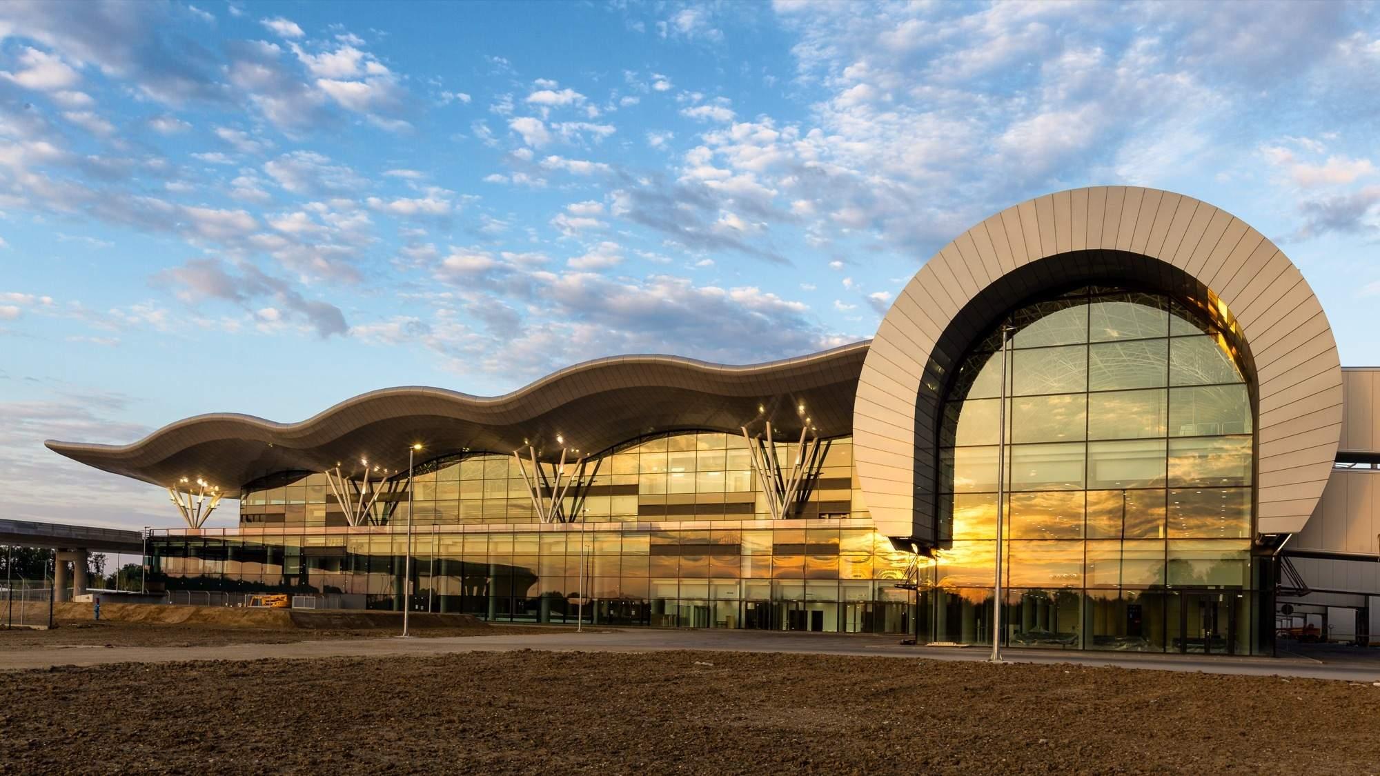 Новый терминал аэропорта в Загребе, Хорватия