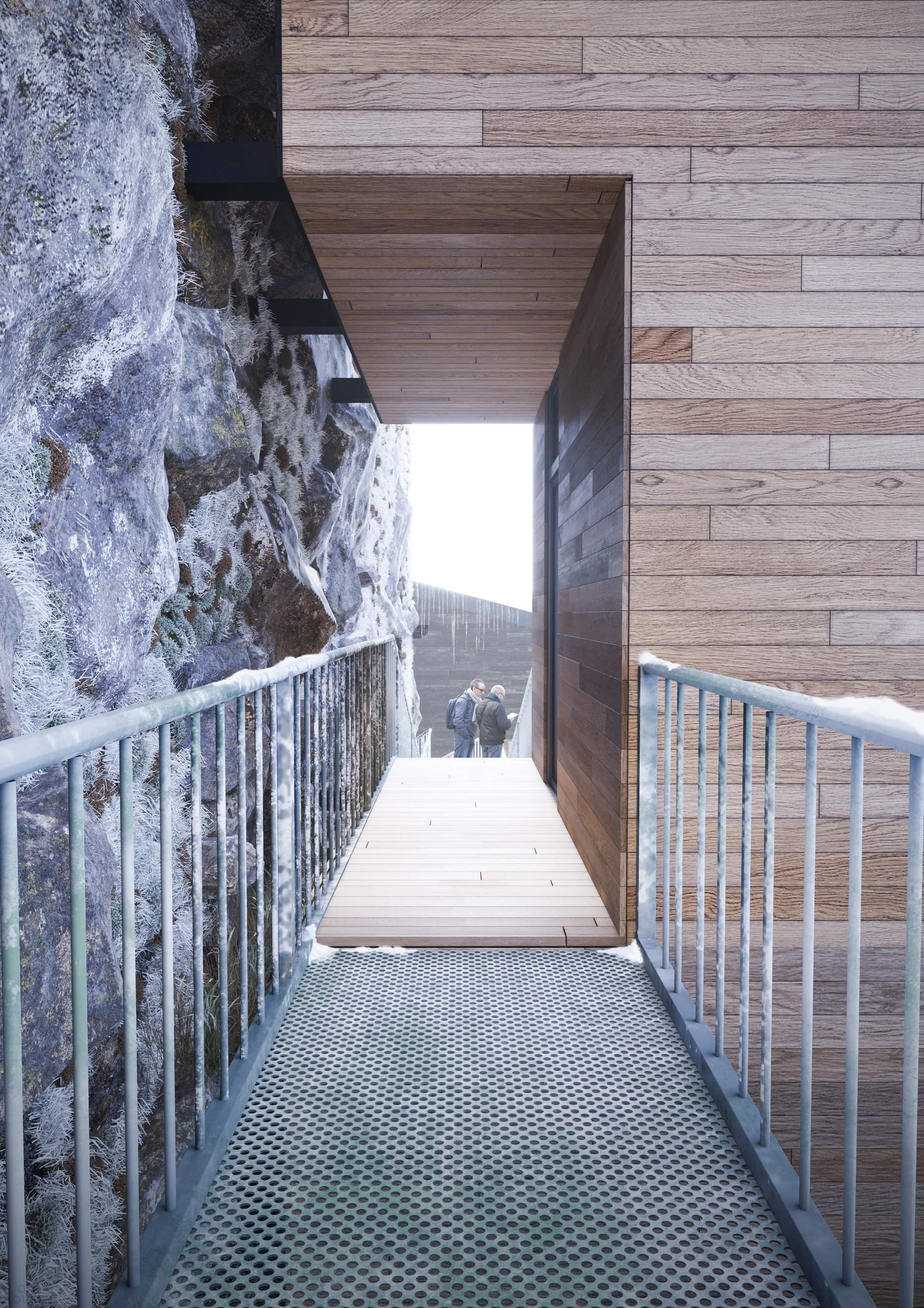 Проект жилых домов на отвесных скалах
