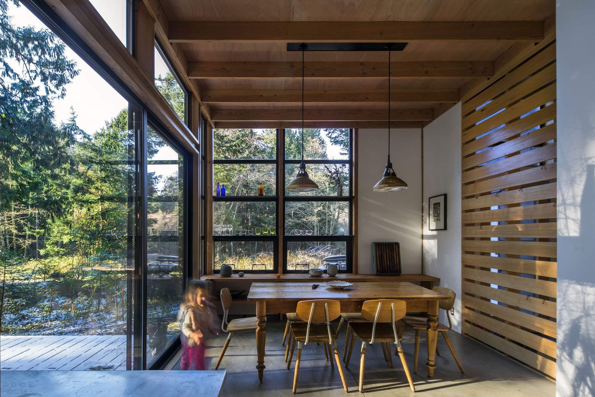 Стеклянный дом в лесу, США