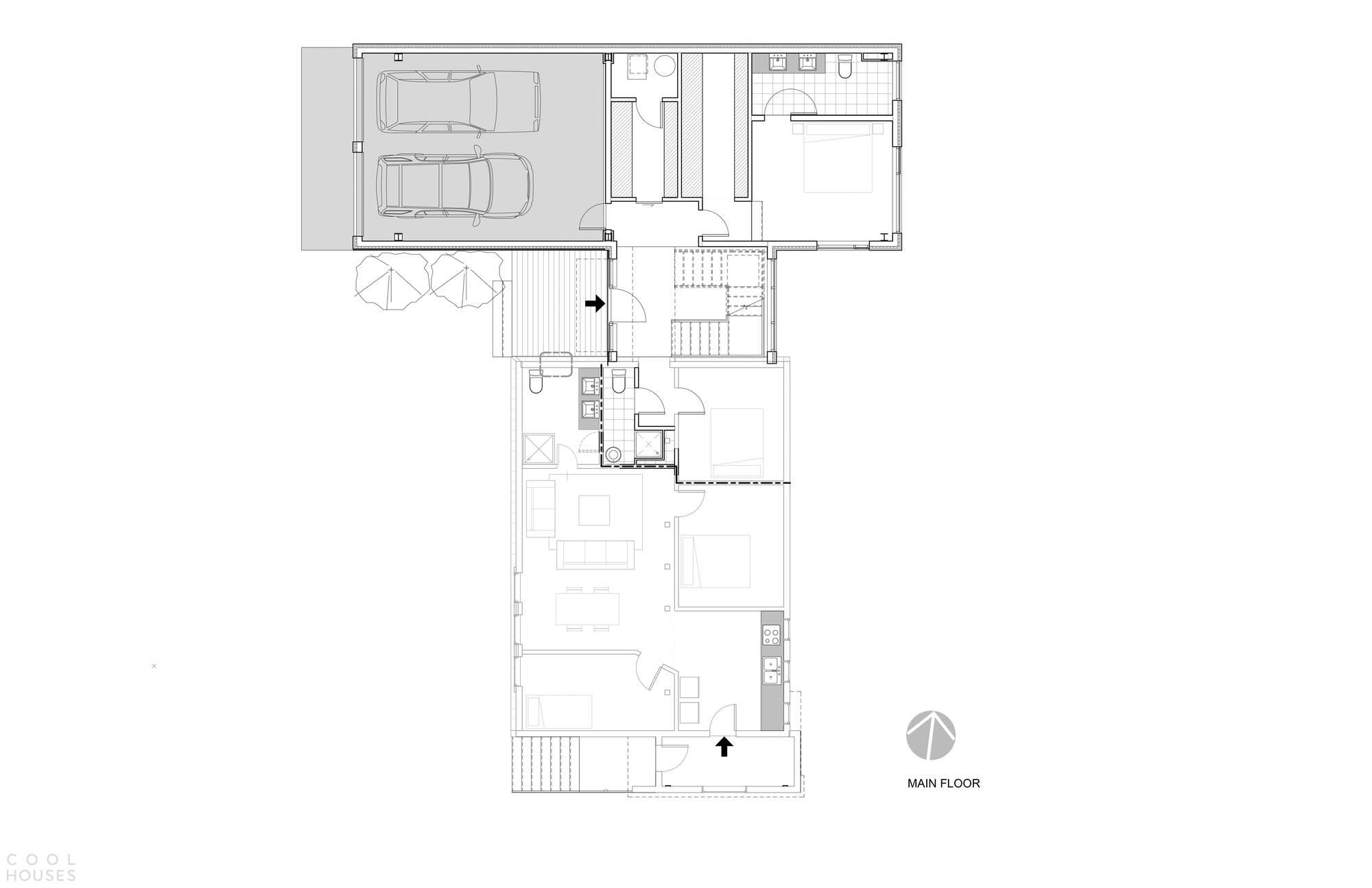 Обновленный дом с монохромным интерьером в Канаде