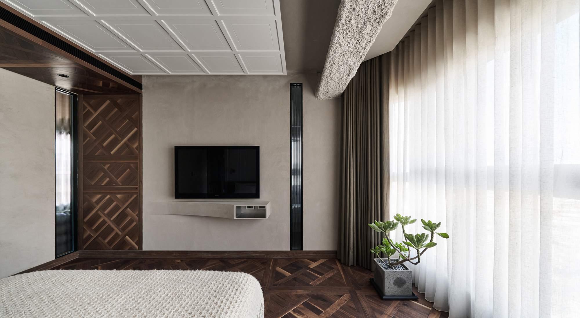 Современная квартира с эклектичным интерьером в Тайване