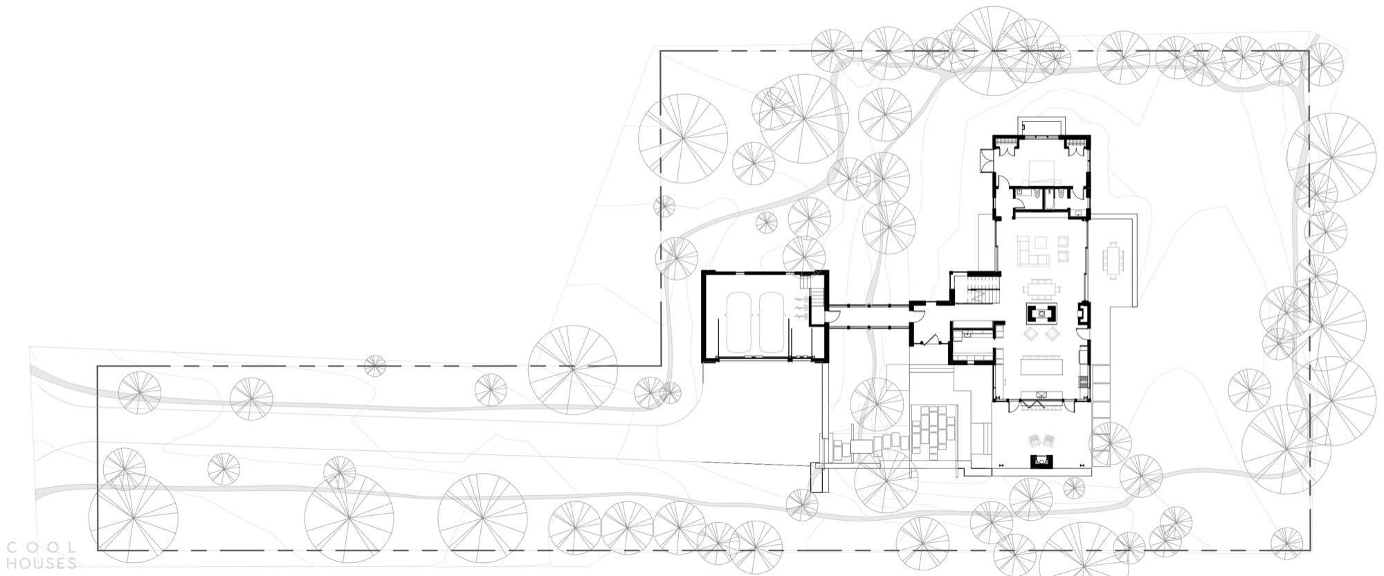 Современный дом с аграрным характером у подножия Скалистых гор, США