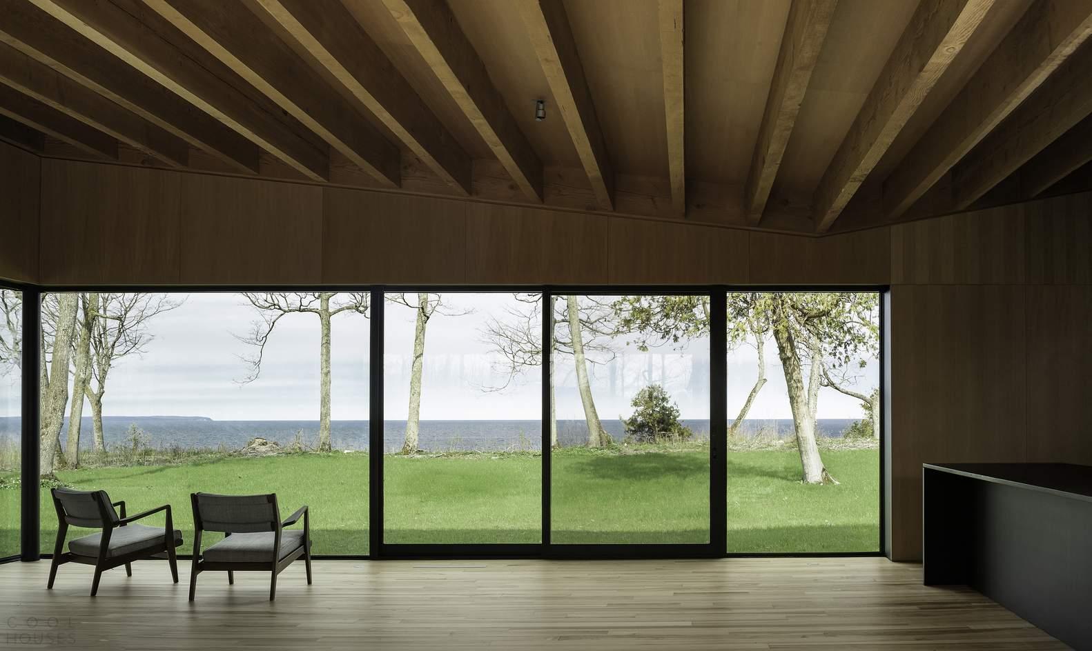 Энергоэффективный дом с видом на озеро Мичиган, США