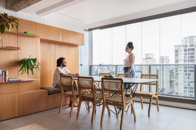 Минималистичные апартаменты в Сан-Паулу, Бразилия