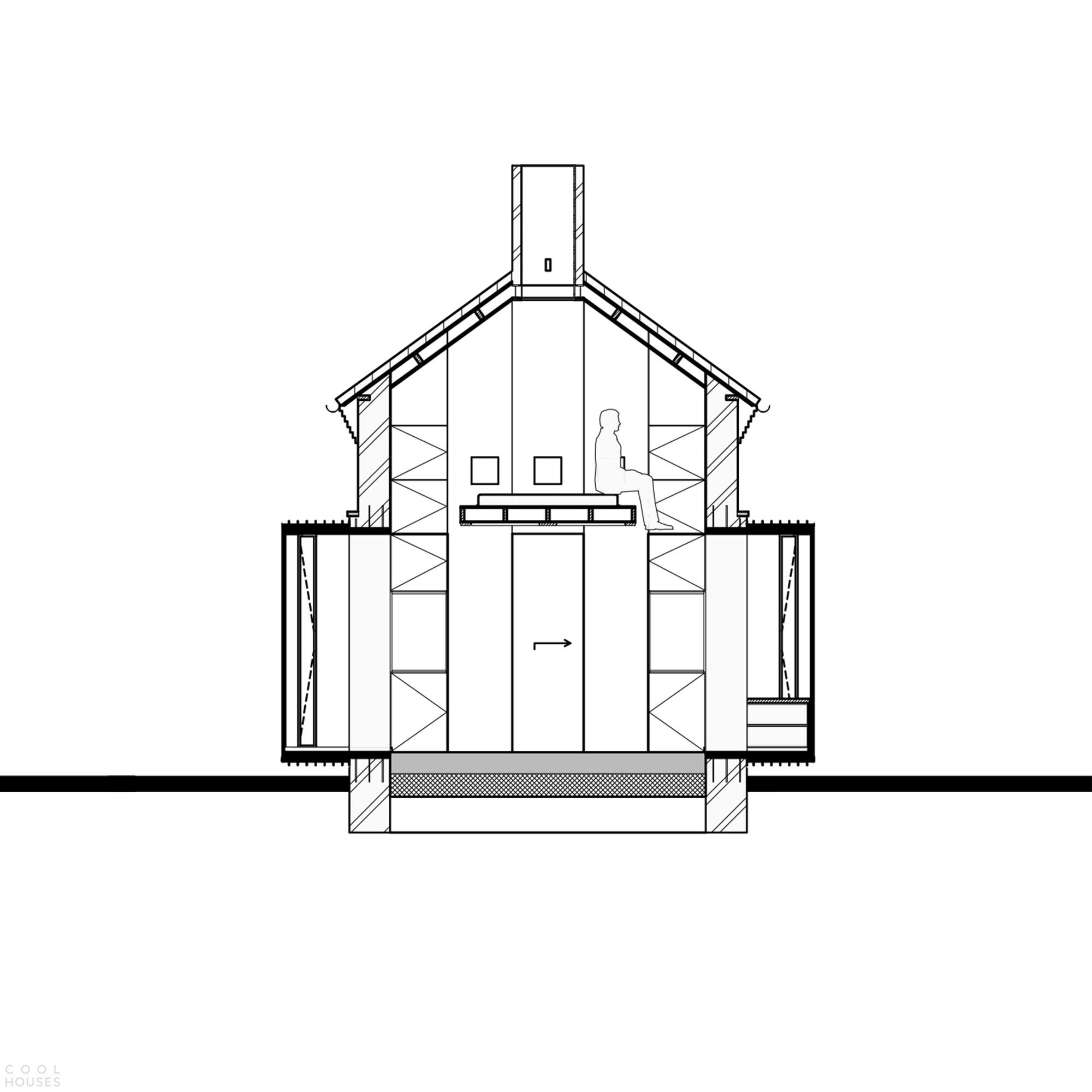 Превращение старой трансформаторной будки в хижину для туристов