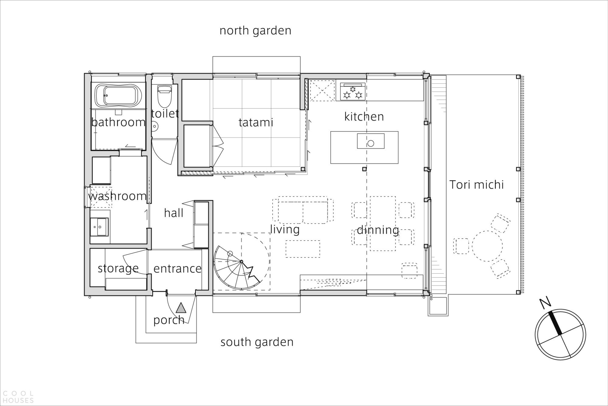 Уютный семейный дом с «Тори-мичи»