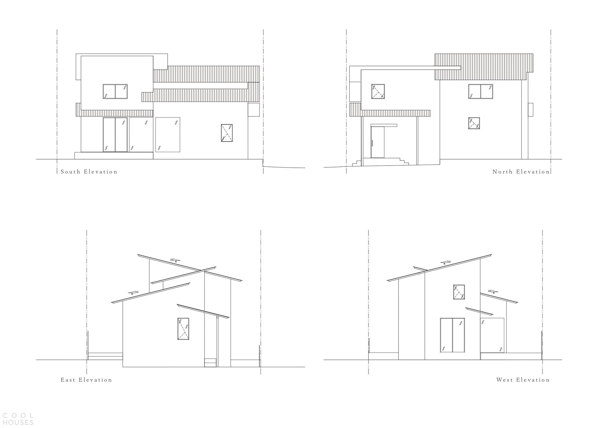 Минималистичный дом с черным выразительным экстерьером