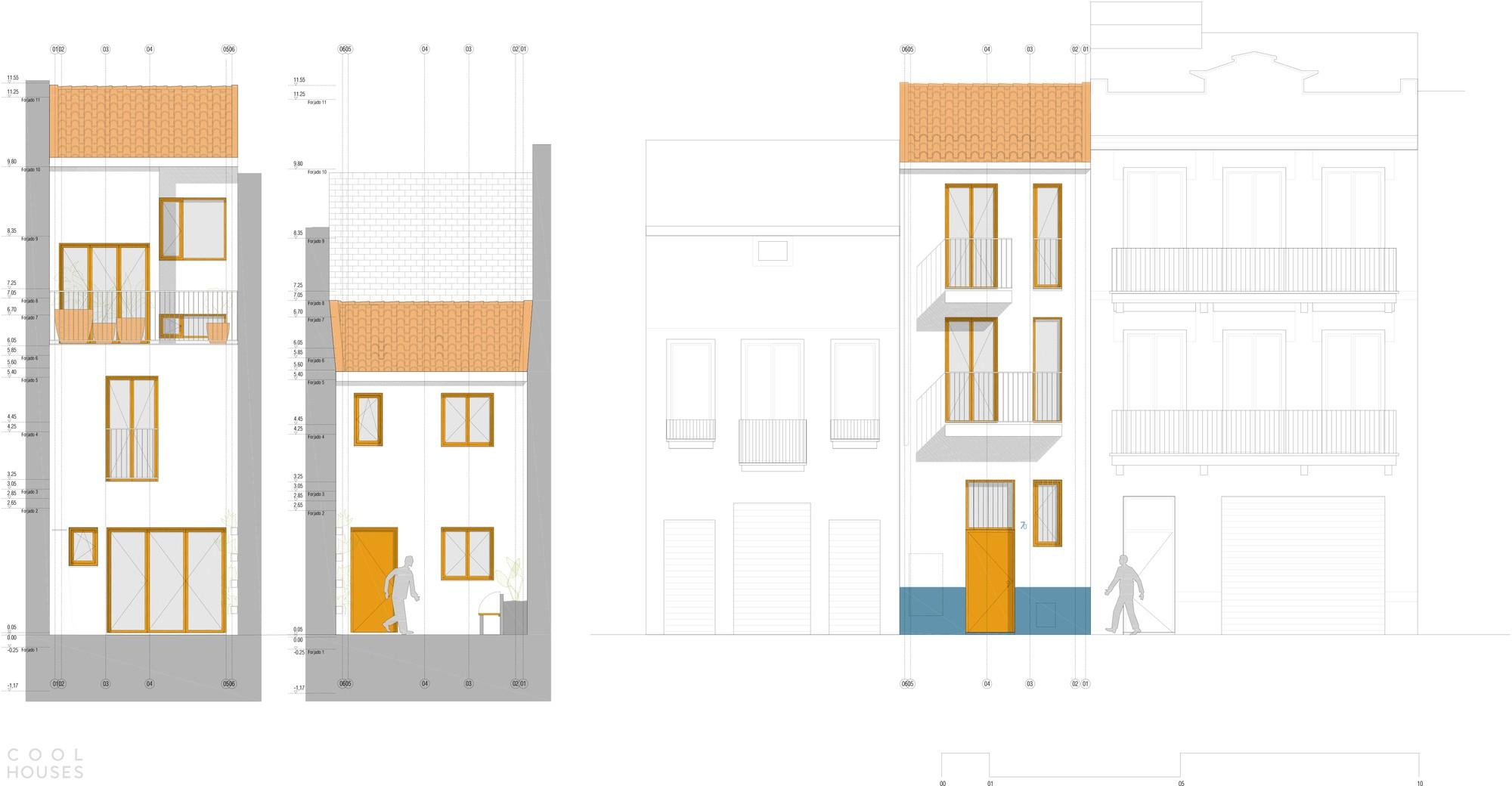 Таунхаус с узким фасадом, гармонирующим с архитектурой старого города