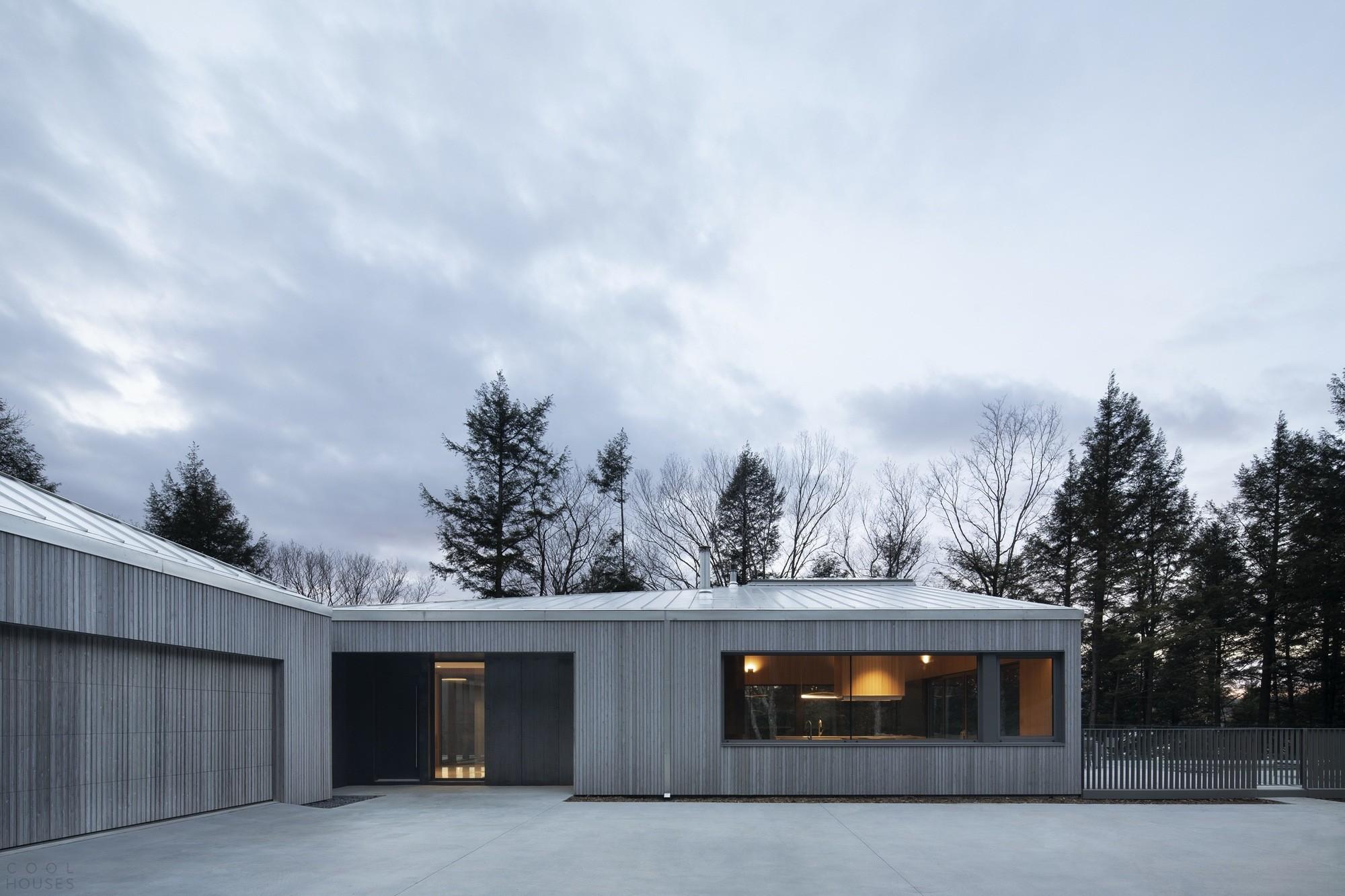 Дом со скульптурной крышей и светлыми динамичными пространствами