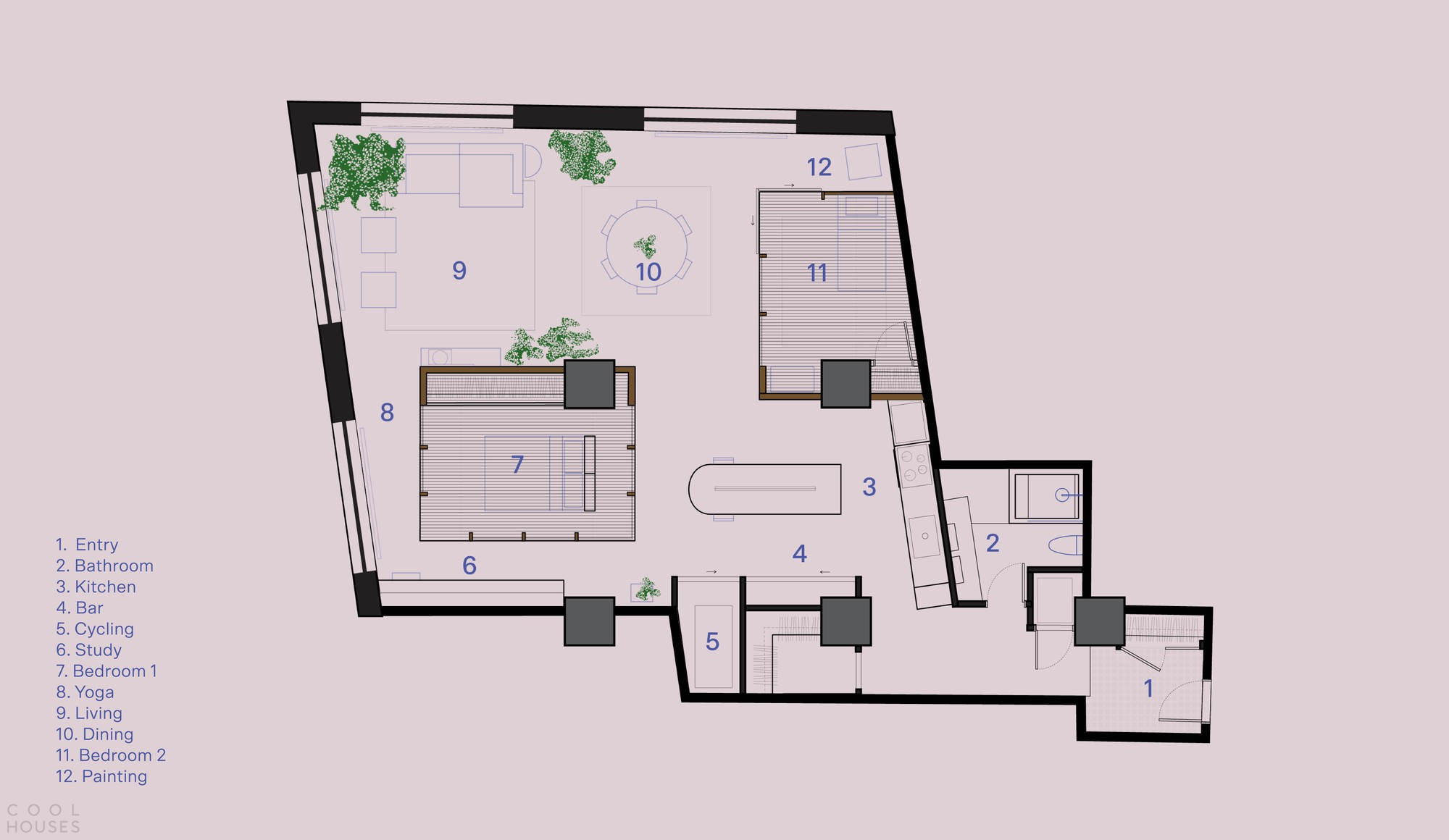 Лофт с урбанистическим пространством и индустриальным прошлым