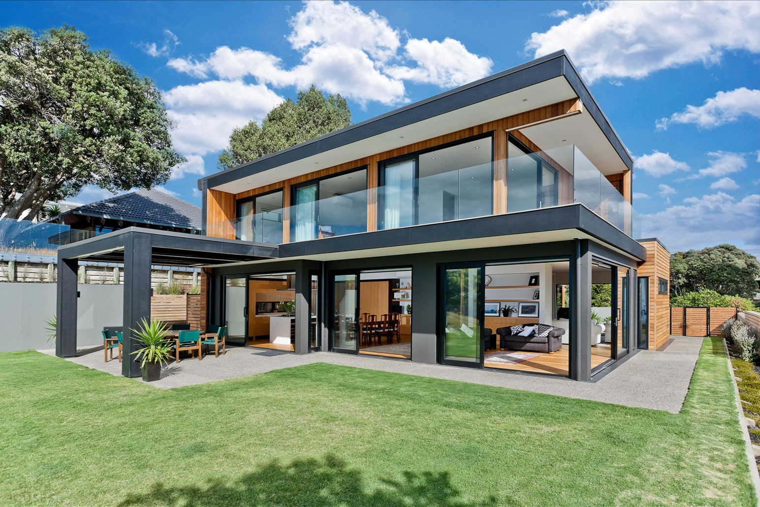 Красивый дом с видом на залив в Окленд, Новая Зеландия