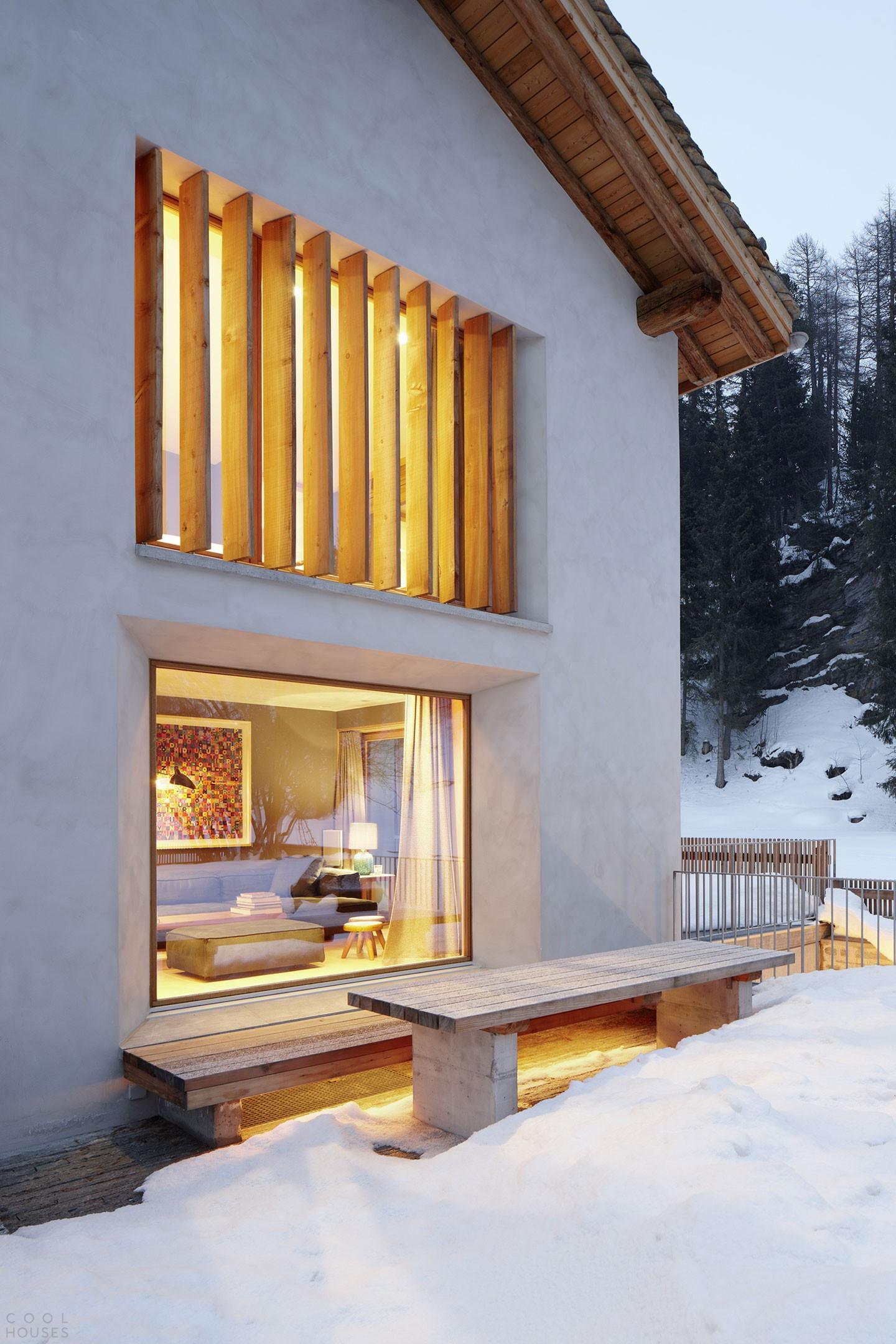 Отреставрированный загородный дом в Швейцарии