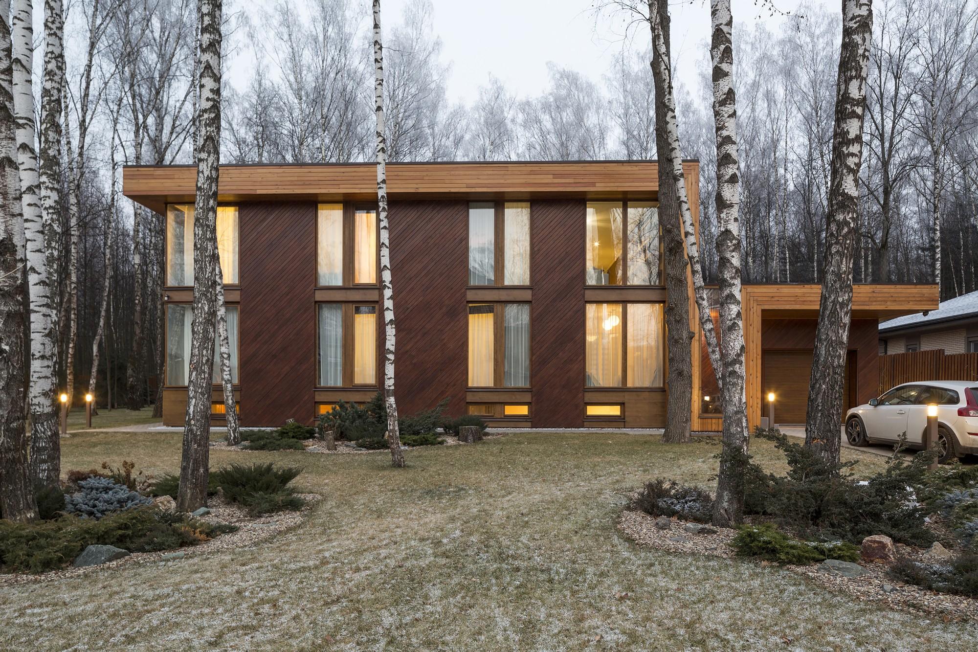 Проект загородного дома в Подмосковье